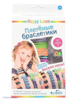 Happy Loom. Плетеные браслетики. Loom. Цвет: оранжевый, черный, зеленый