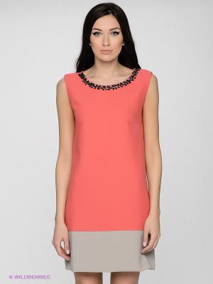Платье LUIGI FERRO. Цвет: коралловый, бежевый