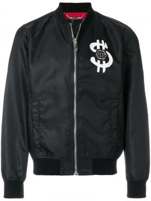 Куртка-бомбер Dollars Philipp Plein. Цвет: чёрный