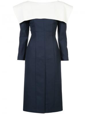 Collar detail fitted dress Jacquemus. Цвет: синий