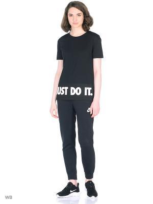 Футболка W NSW TEE HI LO JDI Nike. Цвет: черный, белый