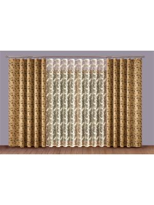 Комплект штор P Primavera Firany. Цвет: коричневый