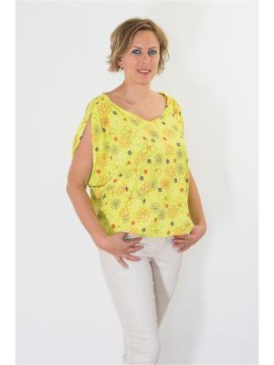 Блуза Brava Catalan. Цвет: желтый