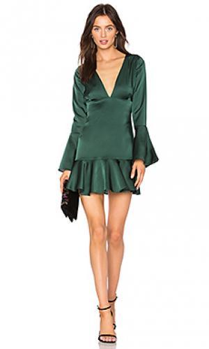 Платье mara Line & Dot. Цвет: зеленый