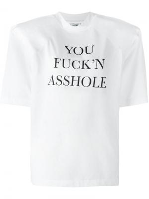 Структурированная футболка Vetements. Цвет: белый