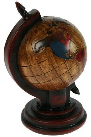 Копилка-ретро Глобус Русские подарки. Цвет: коричневый