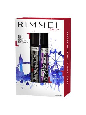 Набор extra super & long lash Rimmel. Цвет: черный