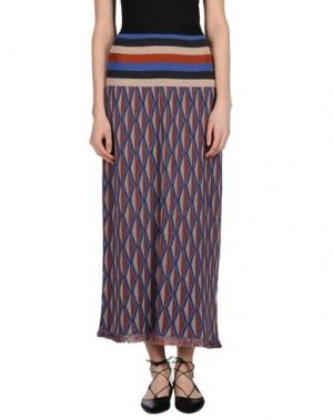 Длинная юбка DEVOTION. Цвет: синий