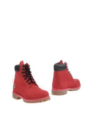 Полусапоги и высокие ботинки TIMBERLAND. Цвет: пурпурный