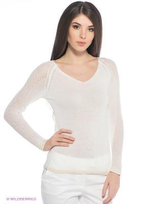 Пуловер Oodji. Цвет: белый