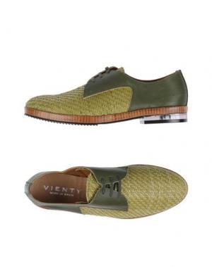 Обувь на шнурках VIENTY. Цвет: зеленый-милитари