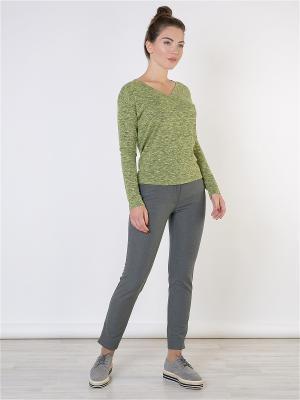 Пуловер MAYAMODA. Цвет: зеленый, желтый, оливковый