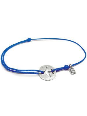 Путь, браслет Amorem. Цвет: синий, серебристый