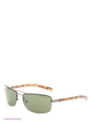 Солнцезащитные очки Polaroid. Цвет: зеленый, коричневый
