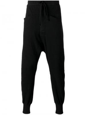 Спортивные брюки с заниженной шаговой линией Thom Krom. Цвет: чёрный