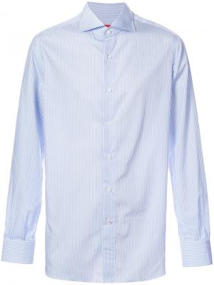 Рубашка в полоску с длинными рукавами Isaia. Цвет: чёрный