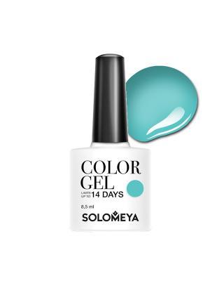 Гель-лак Color Gel Fresh Mint SCG-080/Свежая мята SOLOMEYA. Цвет: светло-зеленый