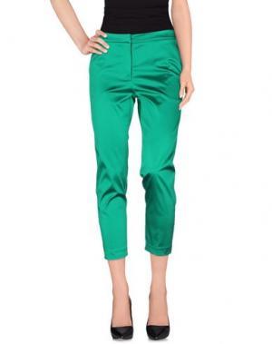 Повседневные брюки NINEMINUTES. Цвет: изумрудно-зеленый