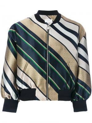 Куртка-бомбер в полоску Carven. Цвет: многоцветный