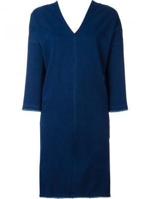 Джинсовое платье Masscob. Цвет: синий
