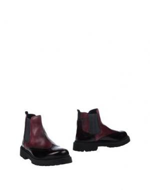 Полусапоги и высокие ботинки BOTTEGA MARCHIGIANA. Цвет: баклажанный