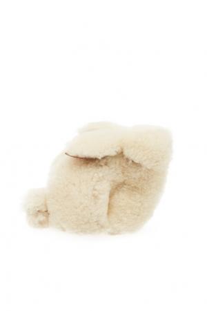 Кошелек из овчины Bunny LOEWE. Цвет: белый