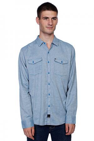 Рубашка  Hall Blue Krew. Цвет: голубой