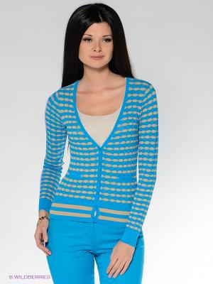 Кардиган VILA JOY. Цвет: голубой, бежевый