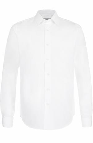 Хлопковая сорочка с воротником кент Valentino. Цвет: белый