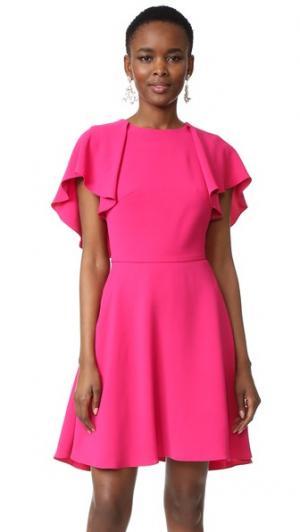 Платье с широкими рукавами Monique Lhuillier. Цвет: пурпурный