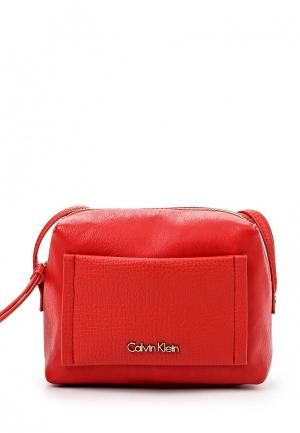 Сумка Calvin Klein Jeans. Цвет: красный