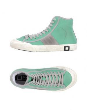 Высокие кеды и кроссовки D.A.T.E.. Цвет: зеленый