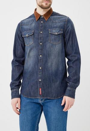 Рубашка джинсовая Rifle. Цвет: синий