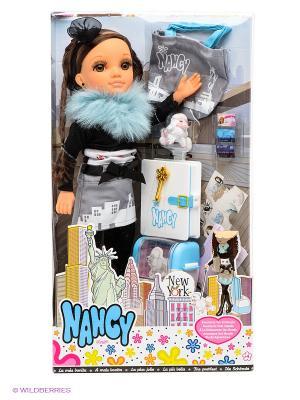 Кукла Нэнси Путешественница в Нью-Йорке Famosa. Цвет: черный, голубой, белый