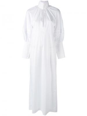 Длинное платье-рубашка Ellery. Цвет: белый
