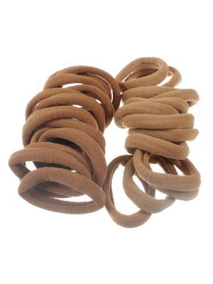 Резинки для волос бежевые 4 см, средней жесткости, 30 шт Радужки. Цвет: бежевый