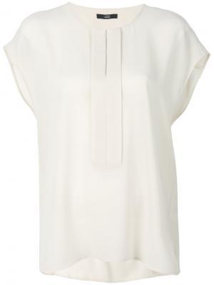 Блузка со складками Steffen Schraut. Цвет: телесный