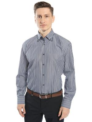 Рубашка GroStyle. Цвет: темно-серый, белый, голубой