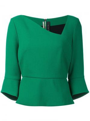 Блузка Rudyard Roland Mouret. Цвет: зелёный