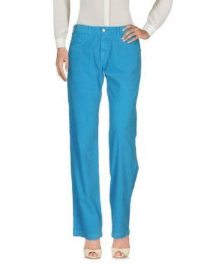 Повседневные брюки MASSIMO ALBA. Цвет: бирюзовый