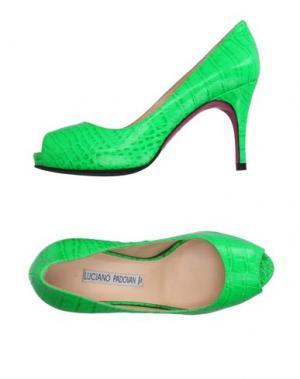 Туфли LUCIANO PADOVAN. Цвет: зеленый