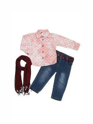 Костюм для мальчика M-BABY. Цвет: розовый, темно-синий
