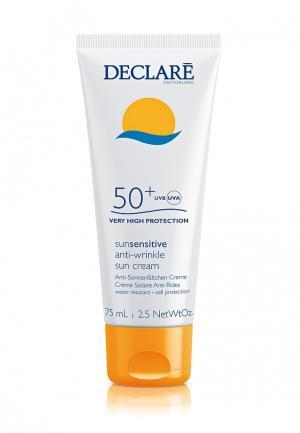 Солнцезащитный крем SPF 50+ с омолаживающим действием Declare. Цвет: белый