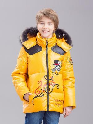Куртка RadRada. Цвет: желтый