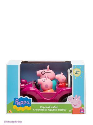 Игровой набор Спортивная машина, Свинка Пеппа Peppa Pig. Цвет: малиновый, красный, розовый, голубой