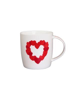 Кружка Сердце влюбленного Elan Gallery. Цвет: белый, красный