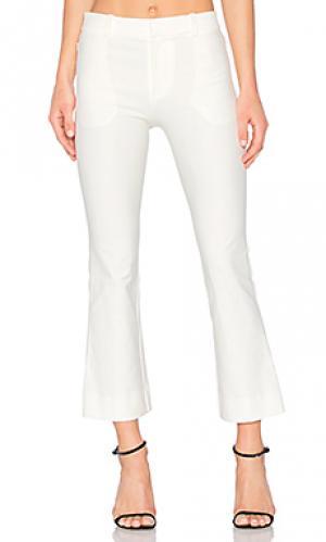 Укороченные расклешенные брюки DEREK LAM 10 CROSBY. Цвет: белый