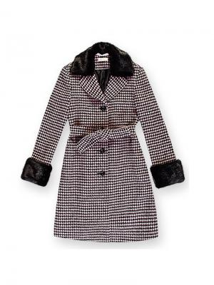 Пальто Stillini. Цвет: розовый, черный