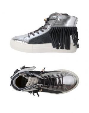 Высокие кеды и кроссовки DOLFIE. Цвет: серебристый