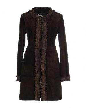 Пальто GOLD CASE SOGNO. Цвет: темно-коричневый